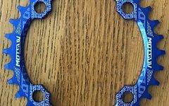 Narrow Wide 32T Kettenblatt 104BCD Blau