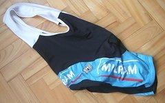 Sms Santini Bib Shorts, Trägerhose Team MILRAM - Colnago (Erik Zabel), Gr. M