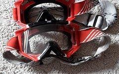 Scott Goggle / Schutzbrille - schwarz weiß rot