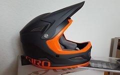 Giro Cipher DH Fahrrad Helm grau orange 2016 Downhill Helm Neu