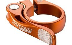 Reverse Components Sattelschelle LONG LIFE Ø 34.9mm Orange Seatclamp with brass washer- sand blast clamp 46g