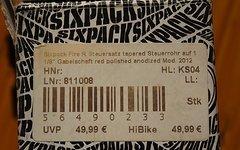"""Sixpack Fire R tapered auf 1/8"""" Gabelschaft Neu"""