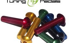 Tuning Pedals M5 x 20, 25, 30 mm Aluminium Schraube, AL7075, Linsenkopf