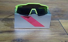 100% Speedcraft (STD) Base Performance Sunglasses - Neon Yellow Smoke Lens