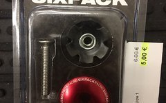 Sixpack A-Headkappe 1 1/8 rot
