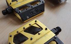 Crankbrothers 5050 Platformpedale Pedale Gold + Wechselplatten