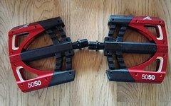 Crankbrothers 5050 3 Flatpedal, schwarz/rot, neu