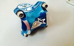 Spank Spike Race Vorbau, 35mm lang, 31,8mm Lenkerklemmung, blau, TOP!