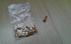 10X Aluminium Schrauben - Gold eloxiert - M5x16 - 1g/Schraube - Neu - z.B. für Flaschenhalterung