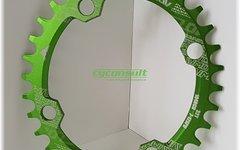 Narrow Wide Oval Kettenblatt, 34T, 104er Lochkreis *grün* oval
