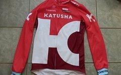 Katusha Team Issued KATUSHA Canyon Sram Thermo Jacket Jacke Jersey Trikot NEU