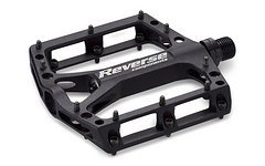 Reverse Components Pedal Black ONE, Black/Black Pedal set 309g, 40 Alloy Pins