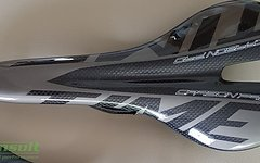 Carbon Sattel *glossy grey* nur ca. 95g Vollcarbon, lackiert
