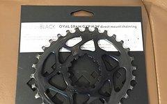 Absolute Black SRAM DM GXP n/w oval chainring 30T/32T // Boost