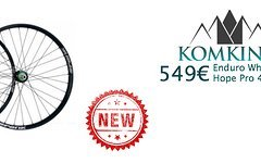 """Komking Enduro Hope Pro 4 + Spank OoZy 350 Disc 6-Loch 27,5"""" Laufradsatz"""