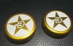 Brave Machine 2x BRAVE Endcaps GOLD Endkappen Lenkerenden NEU
