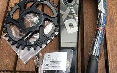 SRAM X0  GXP - 1x11-fach Kurbel länge  170mm - 32 Zähne 6mm Offset Kettenblatt.