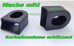 Cyconsult® *Mach`s mit - Kurbel-Kondom* flex-protect Kurbelschützer Paar Silicone