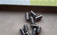 No-Name Pedal-Pins Madenschraube M4x6mm 10 Stück für Plattformpedale z.B. für NC-17 Sudpin