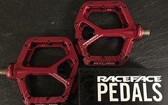 Race Face Atlas Plattform/Flatpedale in rot XC,DH,MTB,AM,FR