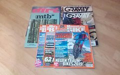 Mountainbike Dirt Gravity und WOMTB Magazine aus 2014/15