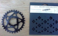 Absolute Black SRAM DM GXP n/w chainring 30T