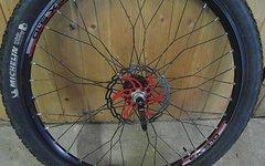 """Dt Swiss / Novatec 26"""" Laufradsatz DT Swiss/Novatec mit Reifen, Speichen getwistet, gebraucht"""