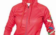 Local Outerwear Fleece Zip Hoody BASK Chinese Red Women 2015 - Medium