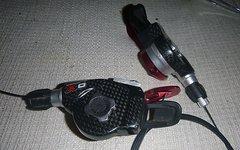 SRAM X0 Shifter Redwin Edition 3x9 Carbon - rot