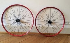 B.o.r 1266XM Black Tusk-29er Red wheelset