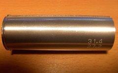 Alu Sattelstützen-Reduzierhülse von 31,6 31,4mm zu 27,2mm