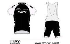 Spy Cycling Trikot Set black/white Größe: S-XXL