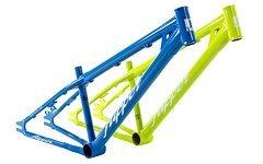 """Nox Flipper Dirt Rahmen 26"""" Aus 4130CrMo Blau/Grün/Grau"""