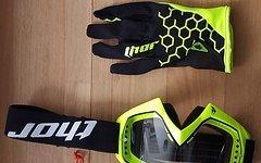 Thor Draft 2018 Motocross Handschuhe+Thor Enemy Solid Brille MX Handschuhe/ MX Brille