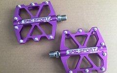 TMC Pedale LILA Purple Fahrradpedale Radpedale MTB Freeride