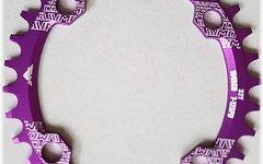 Aluminium Ovales Narrow-Wide Kettenblatt, 34T, 104er Lochkreis *purple*