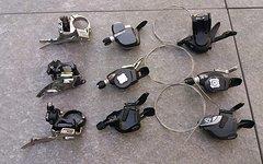 SRAM /Shimano Umwerfer und Shifter Konvolut, X0, X9, X7, Doubletap, SLX, XT etc.