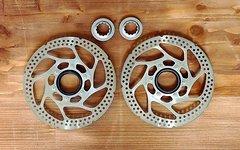 Shimano Bremsscheiben SM-RT52 Centerlock, 160 mm, inkl. Lockring - zwei Stück