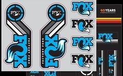 Fox Original Decals AM Heritage 2x Aufklebersatz für je Federgabel & Dämpfer * BLAU / CYAN