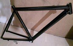 Italienischer Rennrad Rahmen Gr. 51 cm Alu Schwarz ××NEU××