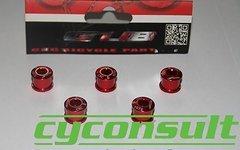 Cyconsult® Alu Kettenblattschrauben (5 Stück!) M8x6mm *rot*