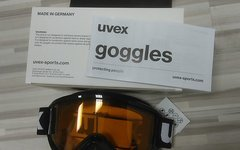 Uvex Fine Race in schwarz, lens in Gold neu