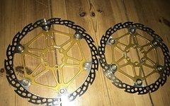 Hope Mono 6 Ti Bremsscheiben 203 / 183 Gold Floating Disc