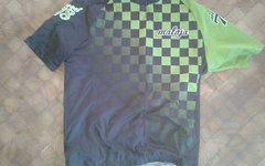 Maloja Wood 78 Trikot Gr. L kurzarm grün schwarz