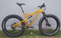 "Salsa Cycles Bucksaw Gold Fatbike Fully bis 4,8"" - RH 19"" - 1x11 - Variostütze, Service neu"