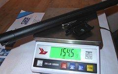 Hylix Sattelstütze Carbon 27,2x400mm 154g sehr leicht, ähnlich AX Lightness MCFK Tune