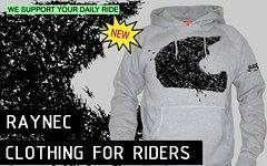 Raynec Mountainbike Rider Hoodie MTB ANTS S, M, L, XL grau NEU