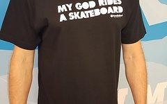 "Horse Feathers ""My God Rids a Skateboard"" Shirt Gr. L"