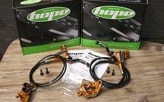 Hope E4 Bremsenset V/H ORANGE *NEU*