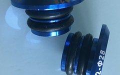 Lenkerendstopfen Aluminium Blau
